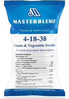 MasterBlend 4-18-38 Tomato & Vegetable Fertilizer - Bulk 1, 5 or 25 Pounds (5 Pounds)