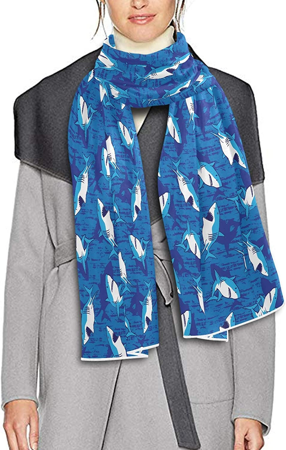 Scarf for Women and Men Shark Shawl Wraps Blanket Scarf Soft Winter Large Scarves Lightweight
