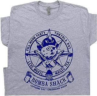 Famous Carribean Bar T Shirt Reggae Tee Mushrooms Band Sailing Cool Vintage Marijuana Psychedelic Graphic BVI
