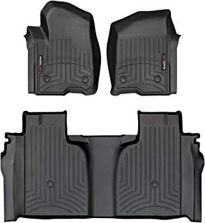 WeatherTech Custom Fit FloorLiner for Sierra/Silverado - 1st & 2nd Row (Black)
