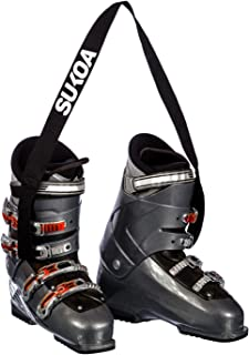 Sukoa Ski and Snowboard Boot Carrier Strap - Men & Women - Shoulder Sling Leash Also for Ice Skates & Rollerblades - Equipment Accessories for Bag, Kit and Gear Pack