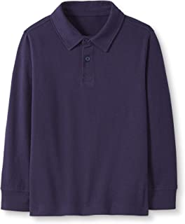 Hanna Andersson Boys Long-Sleeve Sueded Jersey Polo