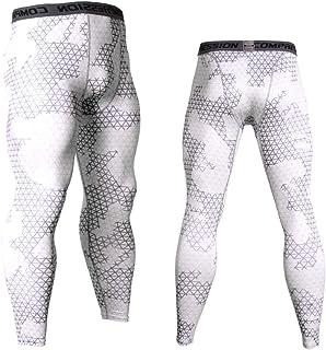 Mens Athletic Sweatpants,Pingtr - Men Workout Tights Running Gym Legging Base Layer Bottom Thermal Pants Sport Training Wh...