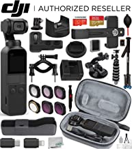 $499 » DJI Osmo Pocket Handheld 3 Axis Gimbal Stabilizer(#CP.ZM.00000097.02) with DJI Osmo Pocket Expansion Kit and Integrated Camera Deluxe Travel Bundle