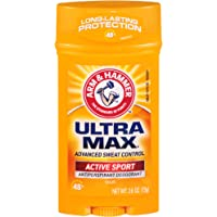 Arm & Hammer Ultramax Antiperspirant Deodorant Invisible Solid Unscented, 2.6oz