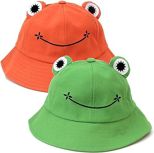 lowest Cute Bucket Hat for Kids Adult Spring Autumn Cotton outlet online sale Sun Hat 2021 Cute Animal Printed Outdoor Beach Sun Cap Wide Brim Fisherman Hat, 2 Pack online sale
