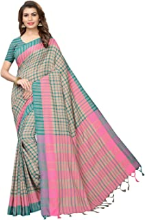 Lovender Fashion Women's Chanderi Cotton Saree With Unstitched Blouse Piece