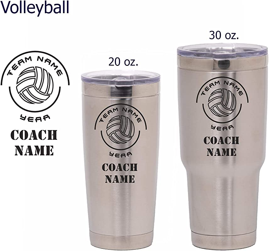 National Etching Personalized Coach Gift Insulated Vacuum Sealed Sports Tumbler With Lid Customized With Team Name Coach Name Year