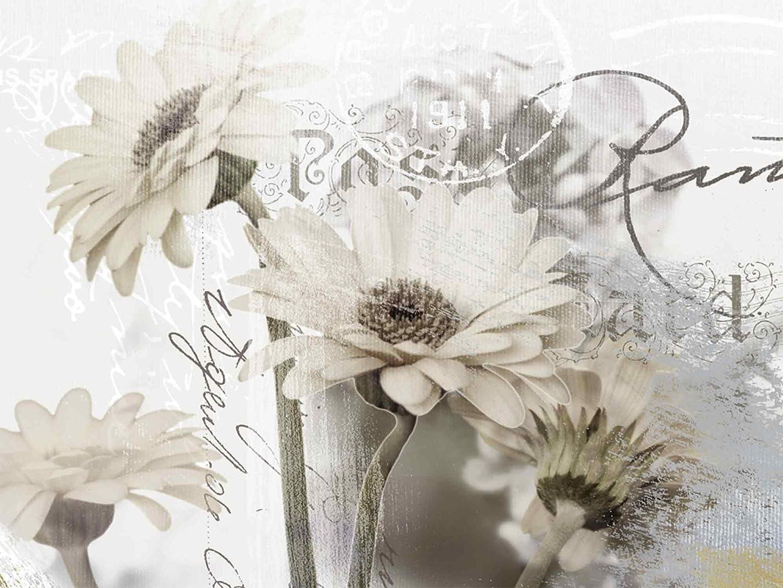 Artland Qualittsbilder I Glasbilder Deko Glas Bilder 80 x 60 cm Botanik Blaumen Gerbera Collage Wei A5WO Gerberas_Detail