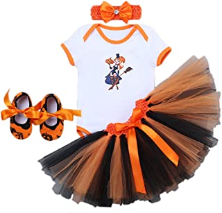 Baby Girls My 1st Halloween Pumpkin Skull Outfits Rompers Suits Tutu Skirt Headband Shoes Newborn Infant Toddlers Cosplay ...