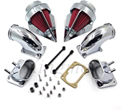 NBX- Chrome Dual Spike Air Cleaner Red Filter Kit Intake For Compatible with Suzuki Boulevard M109R