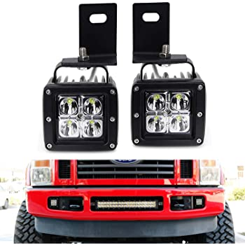 [SCHEMATICS_48IU]  Amazon.com: iJDMTOY LED Pod Light Fog Lamp Kit Compatible With 2008-10 Ford  F250 F350 F450, Includes (2) 20W High Power CREE LED Cubes, Foglight  Location Mounting Brackets & On/Off Switch Wiring Kit: | 2008 Ford F 250 Lights Wiring |  | Amazon.com