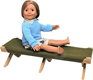 Adventure Camp Cot Compatible with 18 inch American Girl Dolls. Cot is Perfect for Creating a Camping Scene.