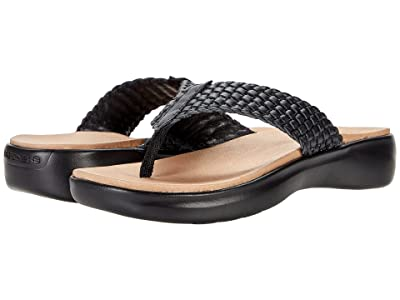 SKECHERS Performance On-The-Go Luxe Woven Leather Sandal