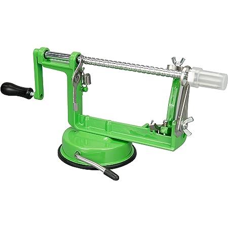 ARSUK 3 en 1 Apple Éplucheur trancheuse Dicer Fruit Pomme de cuisine de pommes de terre évider machine Cutter (Vert)