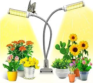 KagoLing växtlampa, växtljus för inomhusväxter med 100 LED-lampor fullt spektrum LED odlings växtlampa 360 ° justerbar sva...