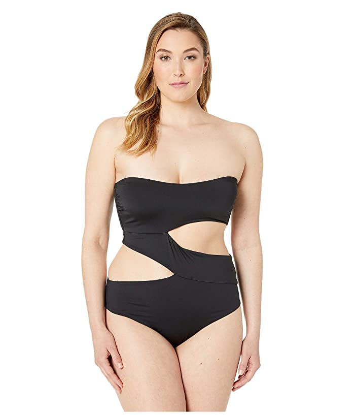 Volcom Plus Size Simply Seamless One-Piece (Black) Women