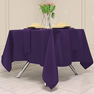 Kadut Square Tablecloth 70 x 70 Inch Purple Square Table Cloth for Square or Round Table | Heavy Duty | Washable Tableclot...