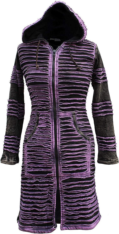 Shopoholic Fashion Womens Stonewashed Boho Hippie Gothic Long Jacket