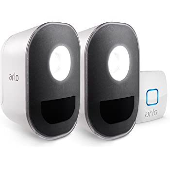 Arlo Lights - Smart Home Security Light |Wireless, Weather Resistant, Motion Sensor, Indoor/Outdoor, Multi-colored LED| 2 Light Kit (ALS1102) camera not included