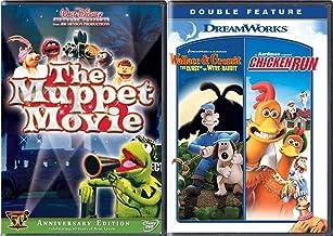 Run Muppet Chicken 50 Years of Kermit Being Green the Original Muppets Feature Movie DVD + Chicken Run & Wallace & Gromit ...