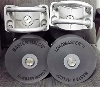 """2 Master Halco Loadmaster II Nylon Cantilever Gate Rollers for 4"""" Gate Post - Fits 2-3/8"""" or 2-1/2"""" Frame"""