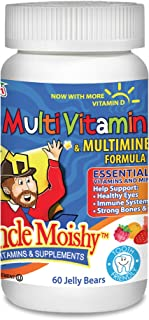 Uncle Moishy Kosher Childrens Multi-Vitamin Mineral Jellies with Choline 60 Jellies