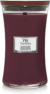 WoodWick Hourglass Vela Aromática en Tarro Grande, Rojo (Black Cherry), 610g