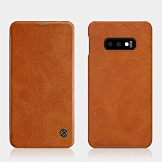 Nillkin Samsung Galaxy S10e Flip Mobile Cover Qin Flip Series Leather Case - Brown