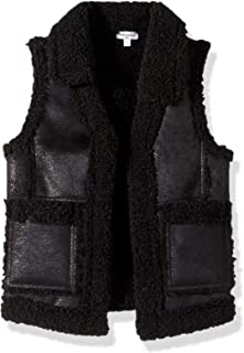 Girls' Pleather Sherpa Vest