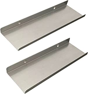 """L&T Metal Floating Shelf Brackets - Wall Mounted Floating Display Ledges- Hanging Organizer Wall Rack, Set of 2PCS, 12"""" by 3.9"""""""