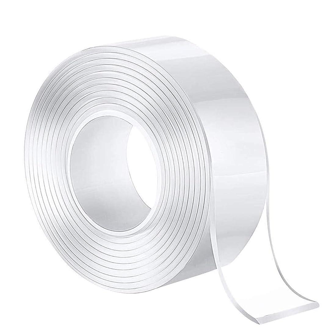 過半数サーバサーバナノテープ 両面テープ 超強力魔法テープ 多機能テープ のり残らず はがせるテープ 透明 多機能テープ のり残らず 繰り返し利用可能 家庭 オフィス 寮 学校 会社 工業用など16.4FT - 4Rolls