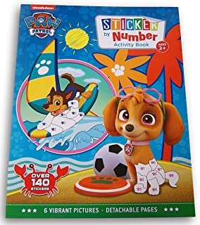 Activity Books Pup Patrol at The Beach Sticker by Numbers Book - Over 140 Stickers and 6 Vibrant Pictures to Fill in!
