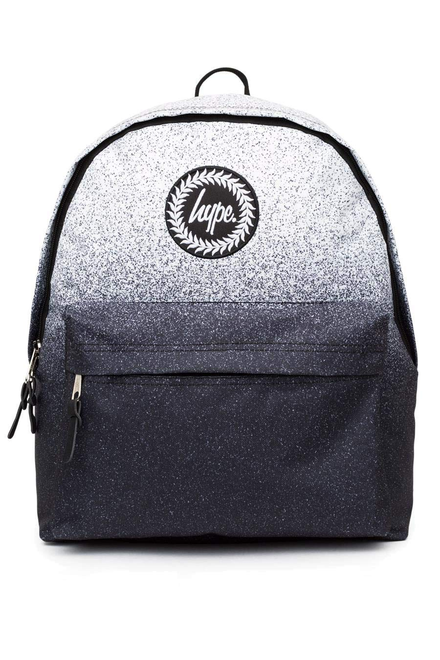Hype Mens//Boys Crest Embroidered Black With Navy Speckle Backpack