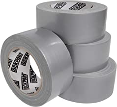 Multi Purpose Silver Duct Tape - 4 Roll Bulk Value Pack - 30 Yards x 2 Inches Per Roll - Tear by Hand, Waterproof Utility Tape for Emergency Repairs and Home Use by Lockport