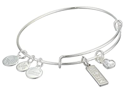 Alex and Ani Duo Charm Meow and Woof Bangle Bracelet (Silver/Meow) Bracelet