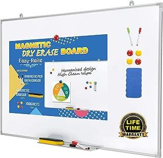 Magnetic Whiteboard/Dry Erase Board 24 x 36 Inch, Ultra-Slim & Lightweight Wall Mount White Board,Aluminum Frame