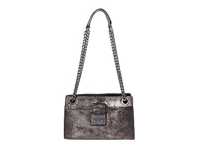 Frye Ella Double Handle Crossbody (Gunmetal) Handbags