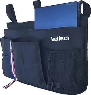 Kelleci Bedside Caddy - Hanging Bedside Organizer / Bedside Storage Bag for Bunk and Hospital Beds, Dorm Rooms Bed Rails / with 8 Pockets