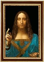 Eliteart-Salvator Mundi by Leonardo Da Vinci Oil Painting Reproduction Giclee Wall Art Canvas Prints Framed Size:21