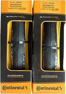 2本セット Continental(コンチネンタル) UltraSport2 イエロー ウルトラスポーツ2 700c 黄色 クリンチャー [並行輸入品]