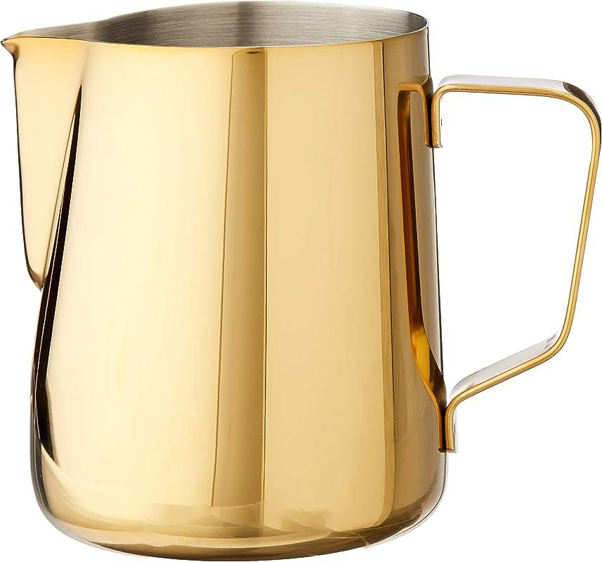 Rhino Coffee Gear RHGLD20OZ Milk Pitcher 12oz Gold