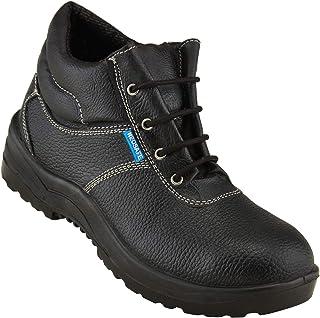 Neosafe A5014_8 Bull PU Leather Safety Shoes, Size 8, Black
