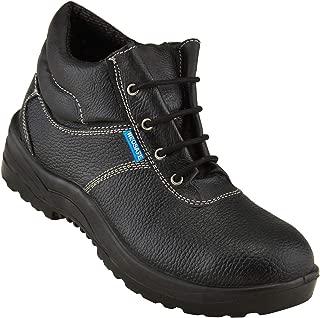 Neosafe A5014_7 Bull PU Leather Safety Shoes, Size 7, Black