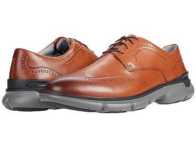 Johnston & Murphy Tanner Wing Tip (Cognac Full Grain Waterproof Leather) Men