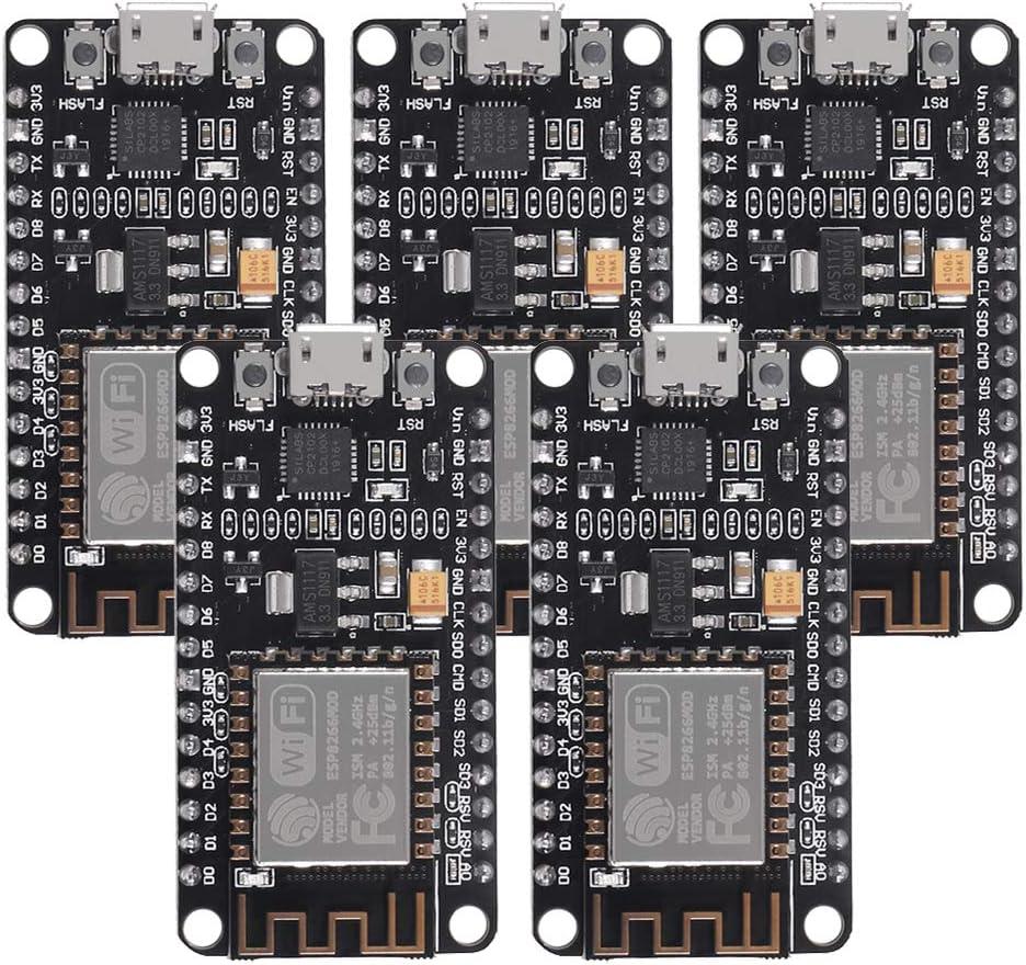 AITRI 5 PCS ESP8266 NodeMCU CP2102 Dealing full Max 48% OFF price reduction Develop Internet WiFi ESP-12E