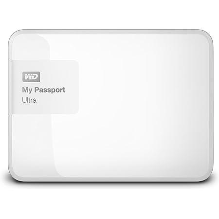 WD HDD ポータブルハードディスク 2TB My Passport Ultra WDBBKD0020BWT-PESN USB3.0/ホワイト/暗号化パスワード保護/3年保証