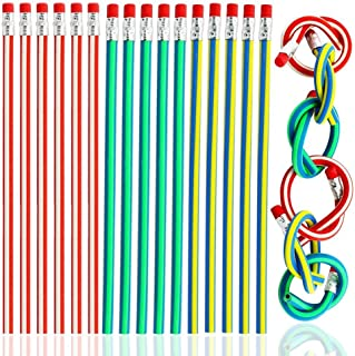 Colorful Magic Bendy Flexible Soft Pencil with Eraser for Children Kids Writing Gift, Pack of 20