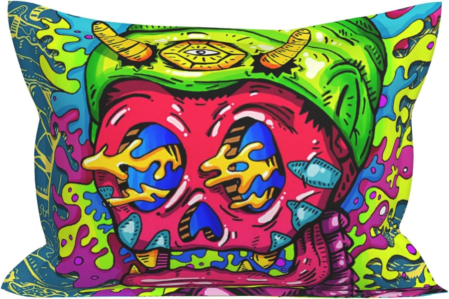 Ranking TOP14 Funny Abstract Cartoon Skull Comic Cover Pillowcases Pillow Soft SEAL limited product