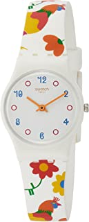 Polletto White Dial Ladies Multi-Colored Print Watch LW154